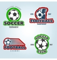 Soccer Colored Logos vector image vector image