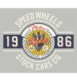 speed wheels racing team vector image vector image