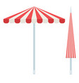 striped beach umbrellas icon flat isolated vector image vector image
