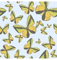 summer seamless pattern with yellow butterflies vector image vector image