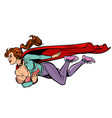 super mom breastfeeding baby female power vector image