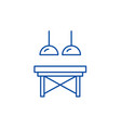 table in the living room line icon concept table vector image vector image