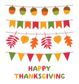 thanksgiving day decoration set vector image vector image