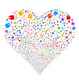 tooth fireworks heart vector image vector image