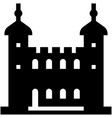 tower of london solid vector image vector image