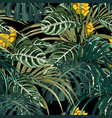 tropical exotic tender lovely yellow flowers vector image vector image