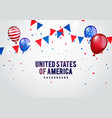 united states america party background vector image