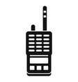 walkie talkie icon simple style vector image vector image