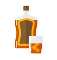 Whiskey bottle isolated vector image vector image