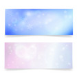 winter snowy banners with snowflakes vector image vector image