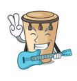 with guitar conga mascot cartoon style vector image