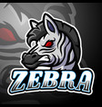 zebra esport logo mascot de vector image vector image