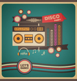271boombox disco party vector image