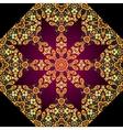 Golden mandala Circle elements texture vector image