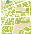 abstract city map with white streets vector image