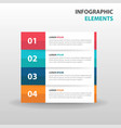 abstract label business infographics elements vector image vector image