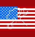 american flag with a hammer and the key vector image vector image
