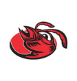 angry hornet wasp red ant head mascot vector image