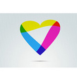 Banner with transparent colorful valentine heart vector image vector image