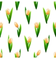 Beautiful seamless pattern with pink tulip flowers vector image vector image
