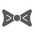 bow tie glyph icon clothing and knot necktie vector image