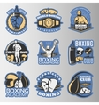 Boxing Colored Emblems vector image vector image