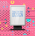 bright pink billboard abstract style eps vector image