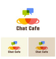 chat cafe isolated logo design template vector image