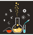 chemical reaction vector image vector image