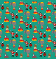 circus seamless pattern vector image vector image