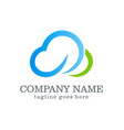 cloud company logo design vector image