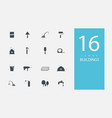 collection icons in style flat gray color on vector image vector image