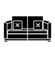 comfortable couch isolated vector image vector image