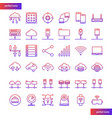 computer networks and database gradient icons set vector image vector image