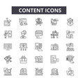 content line icons for web and mobile design vector image vector image