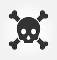 crossbones or death skull danger or poisonous vector image