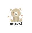 cute a sitting bear vector image vector image