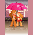 cute dogs in love vector image vector image