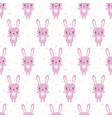 cute seamless pattern with cartoon bunny funny vector image vector image