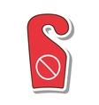 do not disturb notice icon vector image vector image
