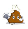doctor poop emoticon character cartoon vector image vector image