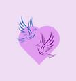 Dove and heart valentine logo