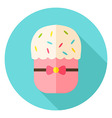 Easter Bakery Cake Circle Icon vector image vector image