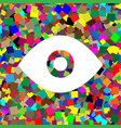eye sign white icon on vector image
