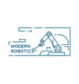 factory robotic arm vector image vector image