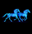 Fair Horse Run2 05 vector image vector image