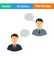 Flat design icon of Chating businessmen vector image vector image