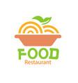 food restaurant logo dish background image vector image