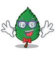geek mint leaves character cartoon vector image vector image