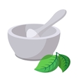 grinding herbs bowl cartoon icon